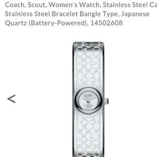 COACH bangle watch
