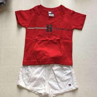 Tommy hilfiger baby shorts set