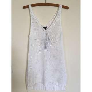 NWT Size M Knit white singlet