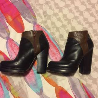 Leather Aldo Heeled Boots Size 7