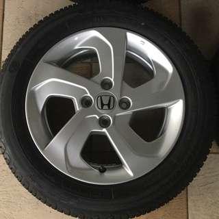 Honda City Original Rim with Tyres (FREE)