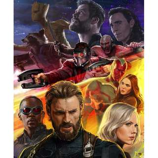 Infinity war large wall posters