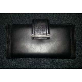 RE-PRICED Braun Buffel Long Black Leather Wallet