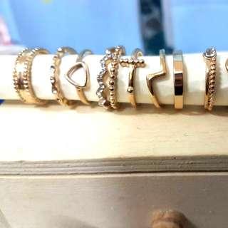 (二手)金色造型戒指