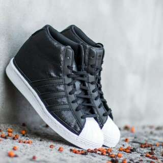 "SEPATU ADIDAS SUPERSTAR UP WEDGES ""BLACK WHITE"
