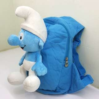 Toddler bag with 3D Smurf