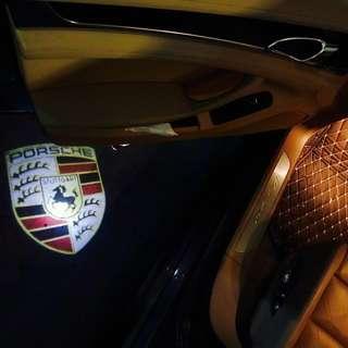 Porsche door ambient light  - porsche logo