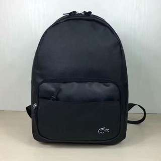 lacoste backpack black and navy
