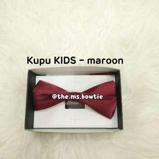 Dasi kupu anak kids marun / maroon bowtie import