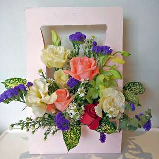 Valentines day flower box bouquet arrangement include delivery