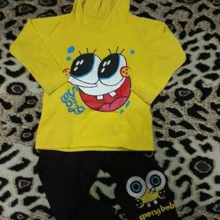 Setelan Baju Spongebob