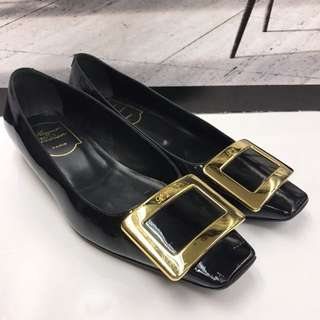 Roger Vivier Patent Leather Flat Shoes