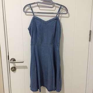 Dress Kain Corak Jeans