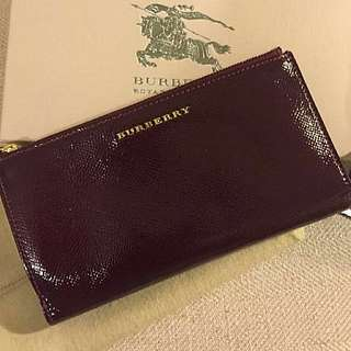 Burberry Long Wallet Burgundy (New)