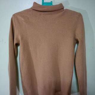 United Colors of Benetton Brown Turtle Neck