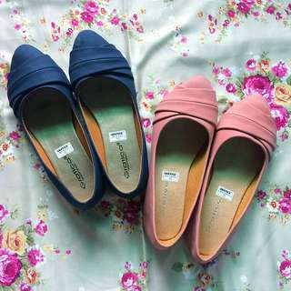 Flat shoes navy