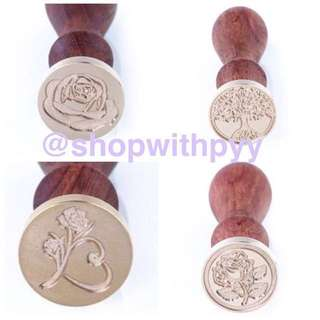 PO Wax Stamps Rose designs for weddings seals cards invitations