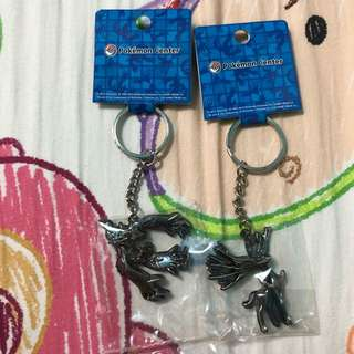 BN Official Pokemon Center Yvetal and Xerneas Metal Keychain