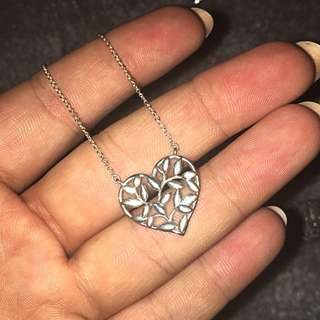 Tiffany leaf heart necklace