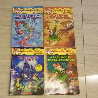 Geronimo Stilton english story books 4 titles