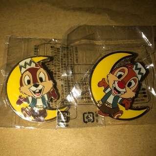 日本 迪士尼 徽章 TOKYO DISNEY PIN GAME PIN CHIP DALE 月亮