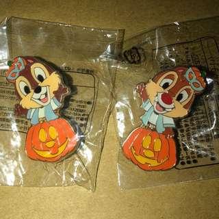 日本 迪士尼 徽章 TOKYO DISNEY PIN GAME PIN CHIP DALE 萬聖節