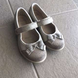 Girls Clarks leather shoes