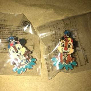 日本 迪士尼 徽章 TOKYO DISNEY PIN GAME PIN CHIP DALE 水