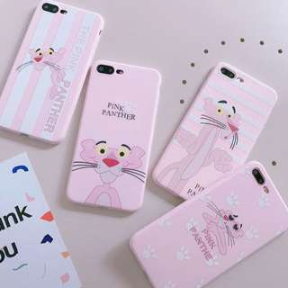 PO(197) Pink Panther Light Pink iPhone Phone Case