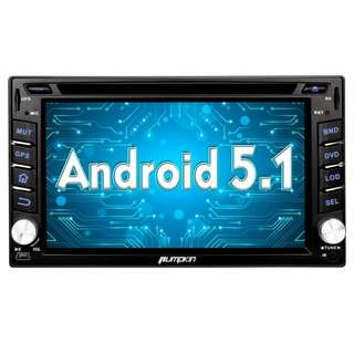 "Pumpkin 6.2"" Android 5.1 Car Radio Stereo Bluetooth Double Din In Dash GPS Navigation CD DVD Player Support SD USB iPod iPhone AM/FM AV-IN 3G Wifi DVR OBD2"