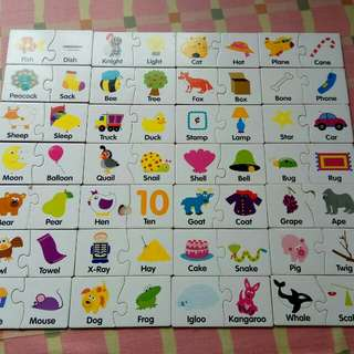 Puzzle matching cards