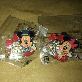 日本 迪士尼 徽章 TOKYO DISNEY PIN GAME PIN MICKY MINNIE 聖誕節