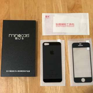 iPhone 5/5S/5SE tempered glass (new condition)