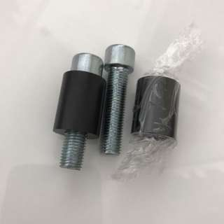 "Mirror spacer 1"" tall anodized black"