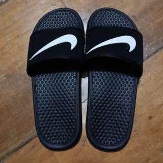Black Nike Slides Size 44