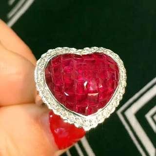 年底清貨價,挺大的一個❤ruby紅寶石戒指