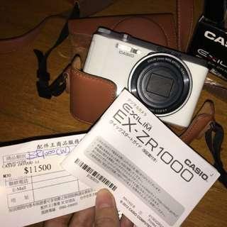 *可議*超低價出售 CASIO ZR1000 翻轉螢幕美肌高畫質相機❤️