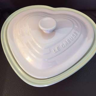 Le Creuset Heart Dish with Lip (Chiffon Pink)