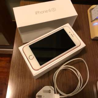 Iphone 6s rose gold 128Gb with free cases and protector