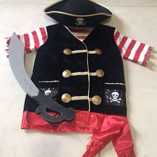 Pirate Costume for age 3-6 from USA