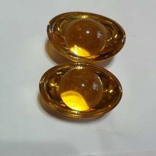 黃水晶元寶 財源滾滾來一對 含運費