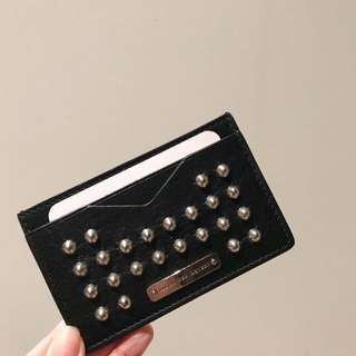 🆕$999 only! Alexander McQueen stud leather cardholder