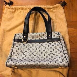 Louis Vuitton LV monogram blue handbag bag 袋