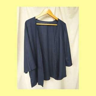 Navy Outer (Kimono Wanita)