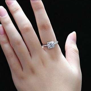 CUBIC ZIRCONIA SILVER WEDDING RING