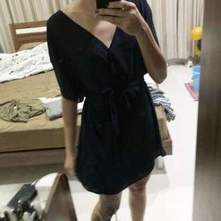 Preloved wrap short dress