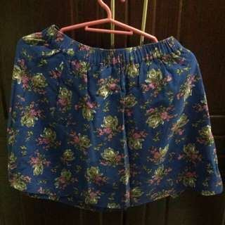 [REPRICED] Forever 21 Blue Floral Skirt