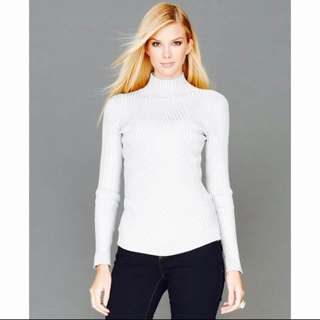 Bnwt Sparkly Ribbed Turtleneck Pullover Jumper (F&F)