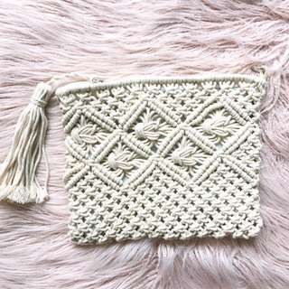 New crochet tassel clutch