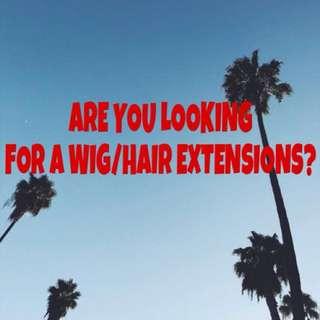 WIG ORDER/HAIR EXTENSIONS ORDER